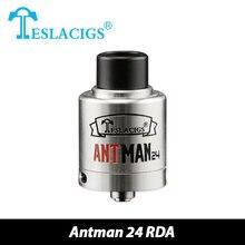 เดิมเทสลาA Ntman RDAเครื่องฉีดน้ำ24มิลลิเมตรบุหรี่อิเล็กทรอนิกส์Rebuildableฉีดน้ำDripperกับ2อากาศสล็อต0.5ohm Evaporizer