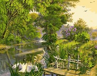 Digital Oil Painting Landscape Dream Frameless Pictures Hand Painted On Canvas Cuadros Decoracion Painting By Numbers
