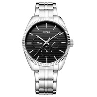 EYKI Top Sale Business Men' Watches Japan Quartz Movement Analog Display Waterproof Big Dial Stainless Steel Strap Gift Box Male