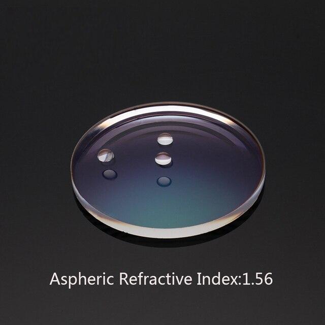 18941c70f8 Prescription Glasses Customize Online Refractive Index 1.56 Aspheric Anti-Blue  light UV400 Film Hard Film Myopia Lens gd156js