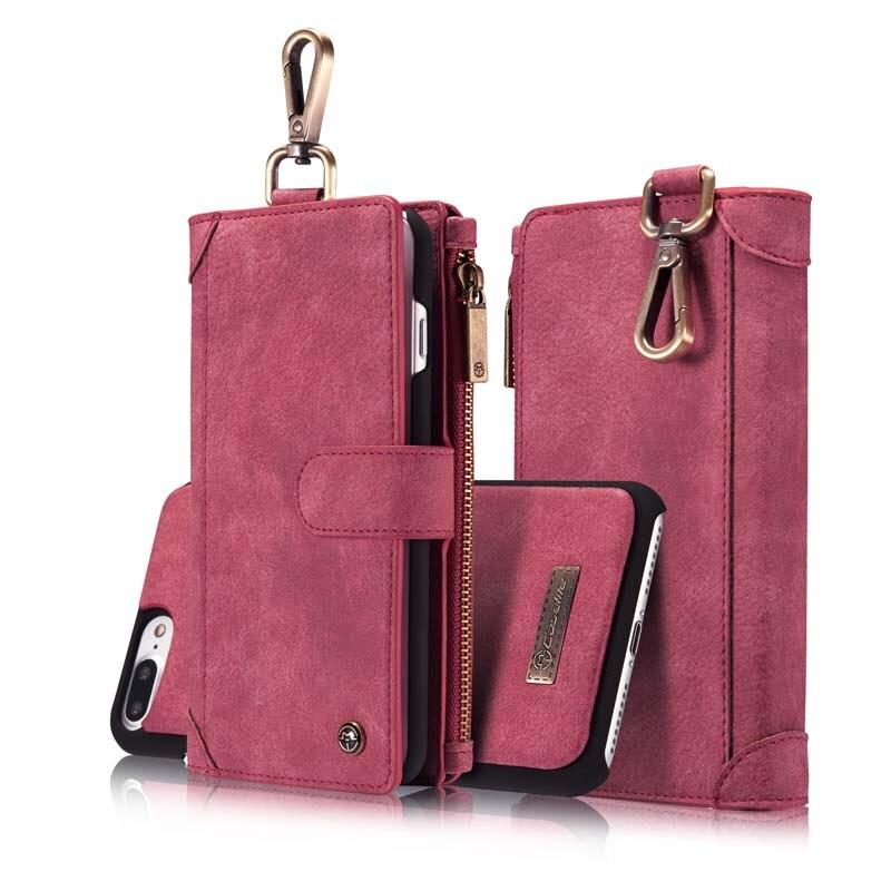 bilder für Original caseme echtem leder multifunktionale magnetische abnehmbare brieftasche flip telefonkasten für iphone 7 6 6 s 6 plus 6 splus js0199