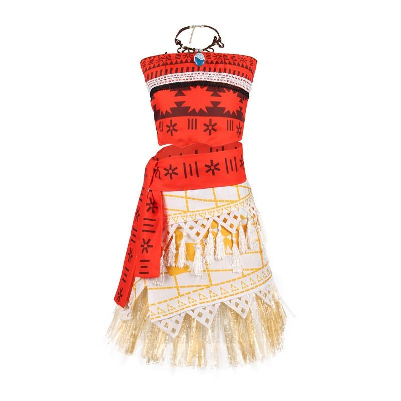 Princess  Moana  Costume  Skirt Set  Little Girls Cosplay  Dress up  Adventure  Costume  Girl Party Dress