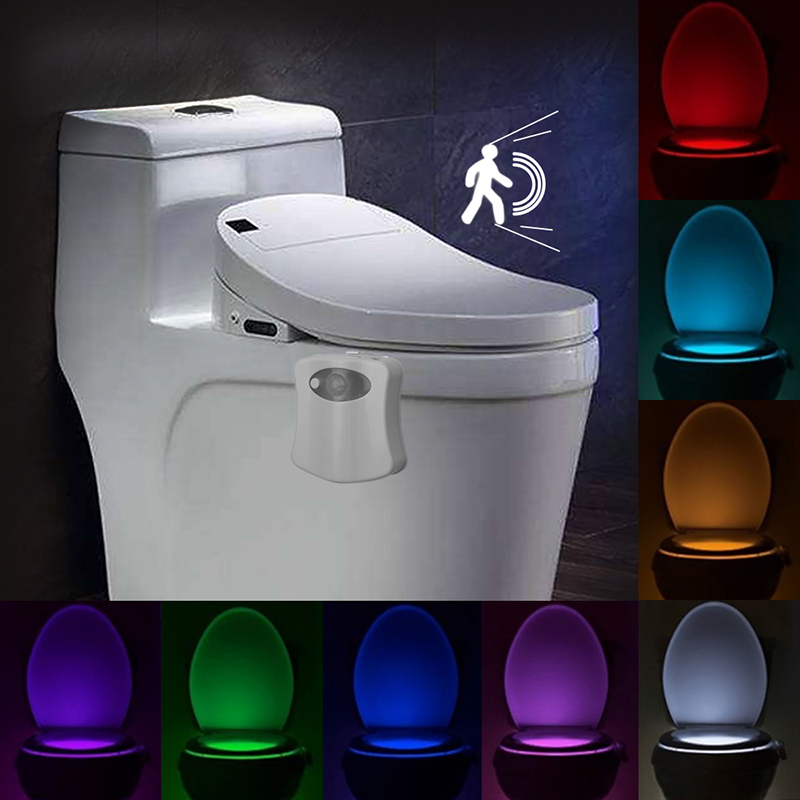 Swell Motion Sensor Usb Led Toilet Light Rgb 8 Color Battery Beutiful Home Inspiration Xortanetmahrainfo