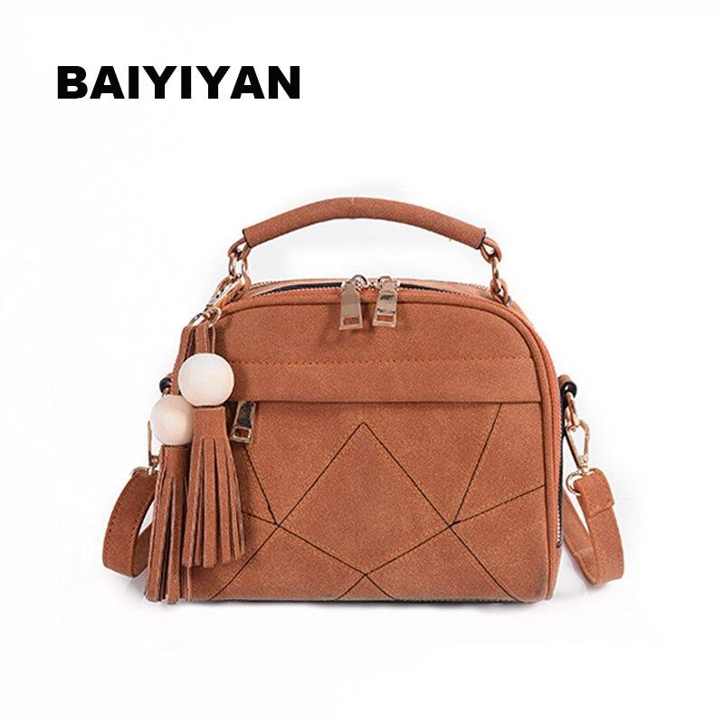 New women handbag Tassel shoulder bag women's Messenger bag casual female bag matte leather stitching tote bag