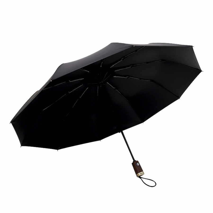 Дождь для женщин автоматический сильный большой женский мужской черный большой складной зонт Зонты для мужчин женщин ветрозащитный для солнца Z659