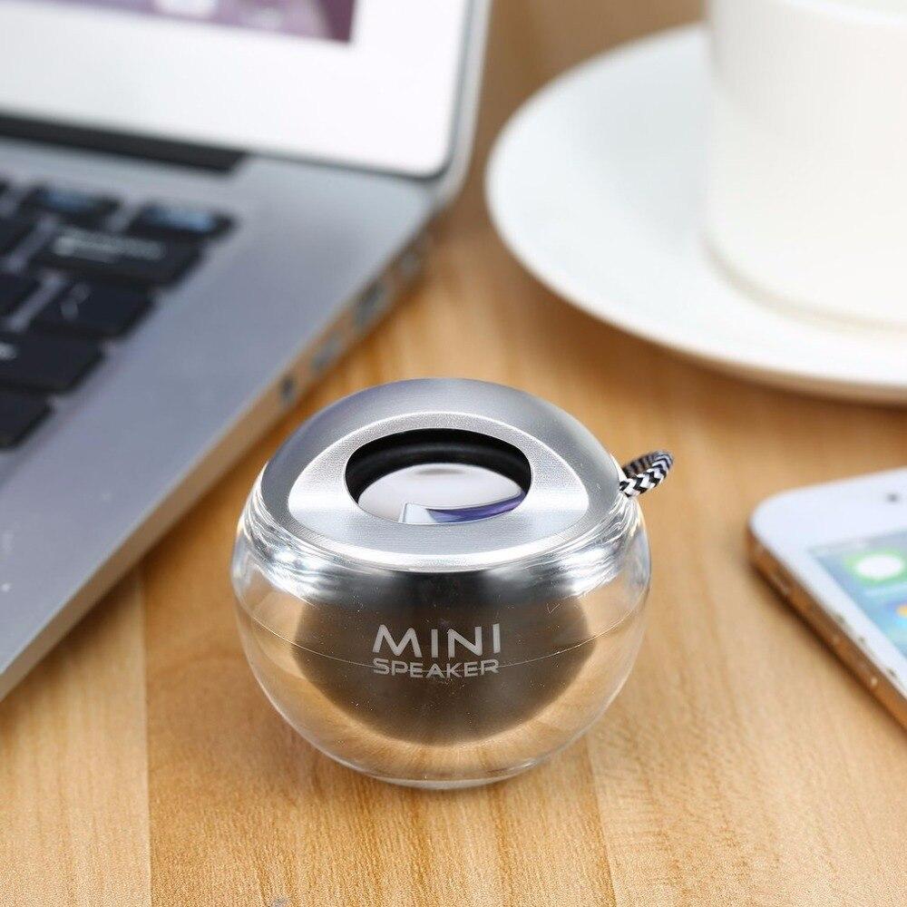 Портативный просто прекрасная мини-Динамик 3,5 мм мини открытый светодиодный красочные вспышки света уникальный Динамик мини звуковой ящик ...