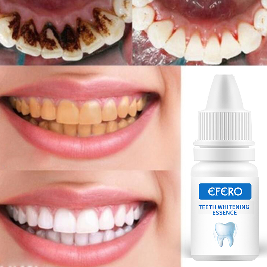 Efero Teeth Whitening Essence Oral Hygiene Cleaning Remove Plaque Stains Bleaching Natural Tooth Paste Dental Tools Instrument