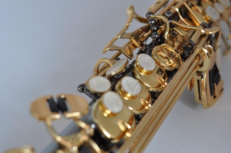 França soprano saxofone bb r54 instrumento de vento sax preto níquel ouro saxofone instrumentos musicais alta qualidade - 3