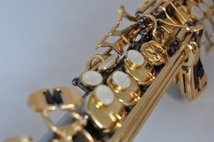Image 3 - Frankrijk Sopraansaxofoon Bb R54 Wind Instrument Sax Zwart Nikkel Goud saxofone saxofon Muziekinstrumenten Hoge Kwaliteit