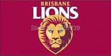 Brisbane Lions Flag 3x5FT AFL banner 100D 150X90CM Polyester brass grommets custom66,free shipping