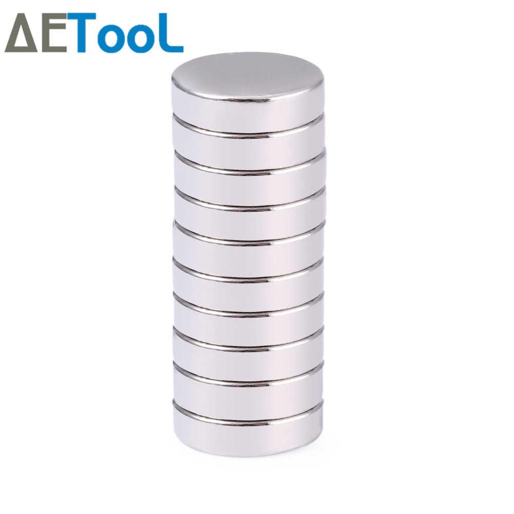 AETool 10 Pcs מיני קטן N38 מגנט 10x1 10x2 12x1 12x2 15 x 1mm Neodymium מגנט קבוע NdFeB עוצמה חזק מגנטים