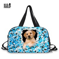 Men Women S Handbag Large Capacity Bags Travel Accessories Camouflage Dog Print Duffle Bag Independent Shoe