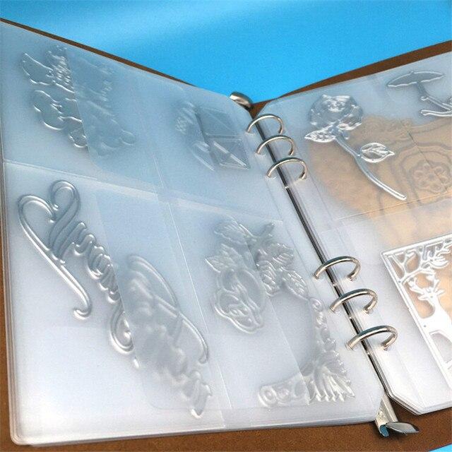OLOEY 1 Pagina DIY Scrapbook Stansmessen Stencil Opslag Boek Cutter Sterven Template Boeken Collecties Zonder Lederen Cover