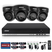 ANNKE  HD 4CH CCTV System Set 720P DVR 4PCS 1200TVL IR Outdoor Security Camera System 4 Channel Video Surveillance Kit