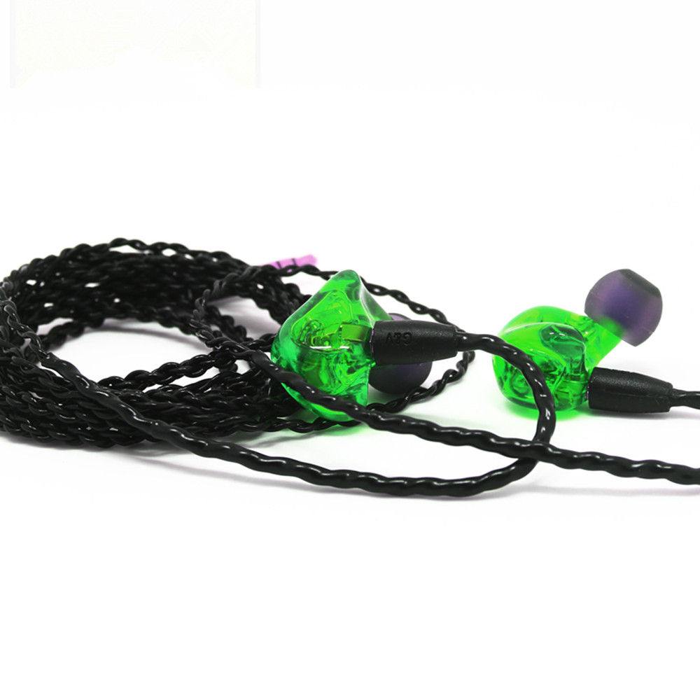 New Arrival Custom Made 3 Balanced Armature driver Units Sport Monitor earphone Around Ear Earphone With MMCX interface