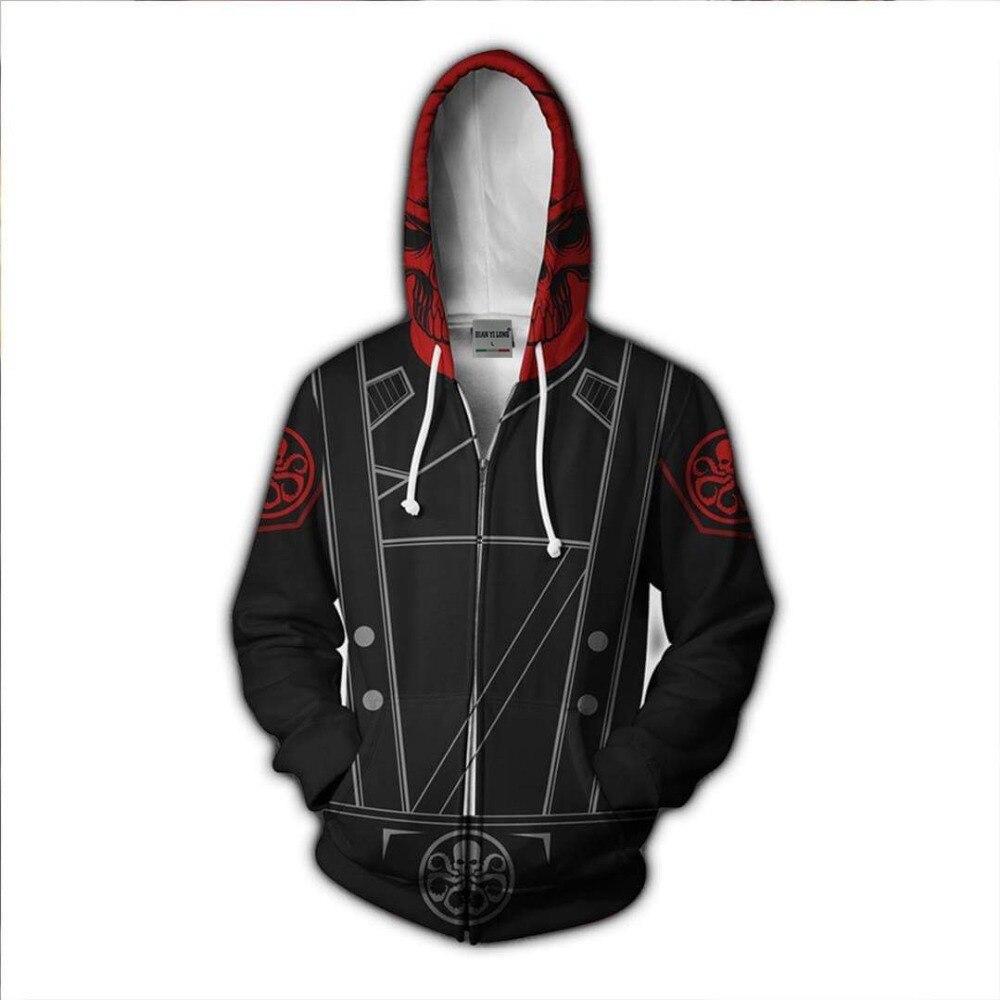 BIANYILONG 2018 new Zip Hoodie men skull red 3D printed hoodies tracksuit Casual zipper hoody hip hop tops