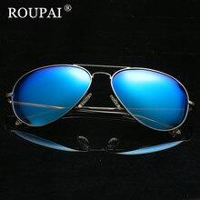 ROUPAI 2017 Fashion Metal Polarized Sunglasses Men Sun Glasses UV400 Driving Eyewear oculos Shades Retro Aviator Male Sunglass