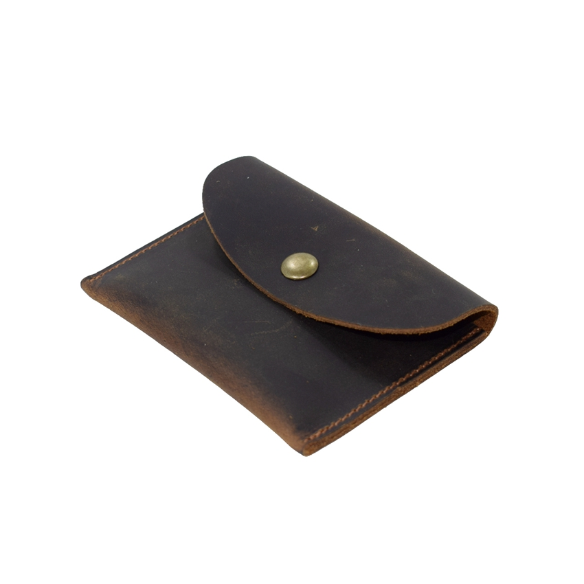 AbleMe Simple Style Men Genuine Leather Coin Purse Handmade Leather Mini Wallet Custom Name Coin Pocket Small Purses Card Wallet smirnoff slim genuine leather wallet case hand made custom name hasp simple style mens wallet super thin card purse mini wallet