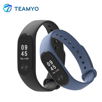 Pre-sale Xiaomi Mi Band 3 Strap Barcelet Colorful Silicone Strap For Miband 3 Replacement Smart Band Accessories For Mi Band 3 magnetic attraction bluetooth earphone headset waterproof sports 4.2