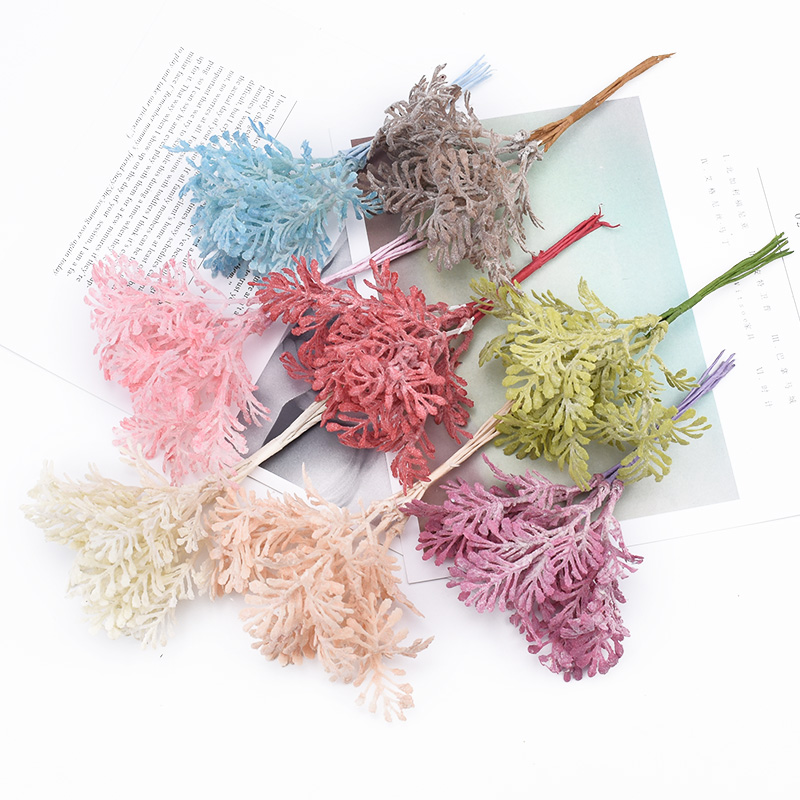 6pcs artificial Coral grass vases for home decoration bridal accessories clearance diy christmas wreath scrapbooking fake plants