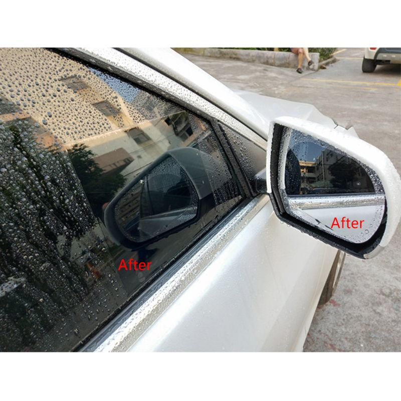 New 1 Pair Auto Car Anti Water Mist Film Anti Fog Coating Rainproof Hydrophobic Rearview Mirror Protective Film 4 Sizes 7