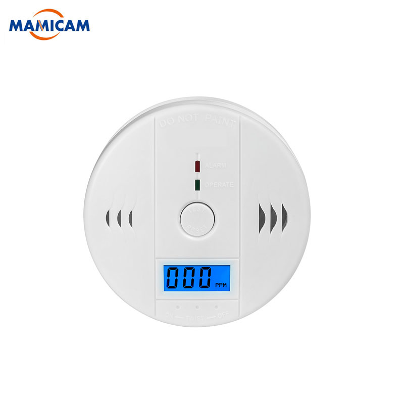 цена на CO Sensor 85dB Carbon Monoxide Detectors LCD Photoelectric Independent Poisoning Warning Alarm CO Gas Sensor Detectors