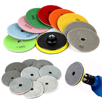 10pcs New 4 Diamond Polishing Pads Mayitr Marble Polisher For Granite Marble Concrete Stone Wet Dry