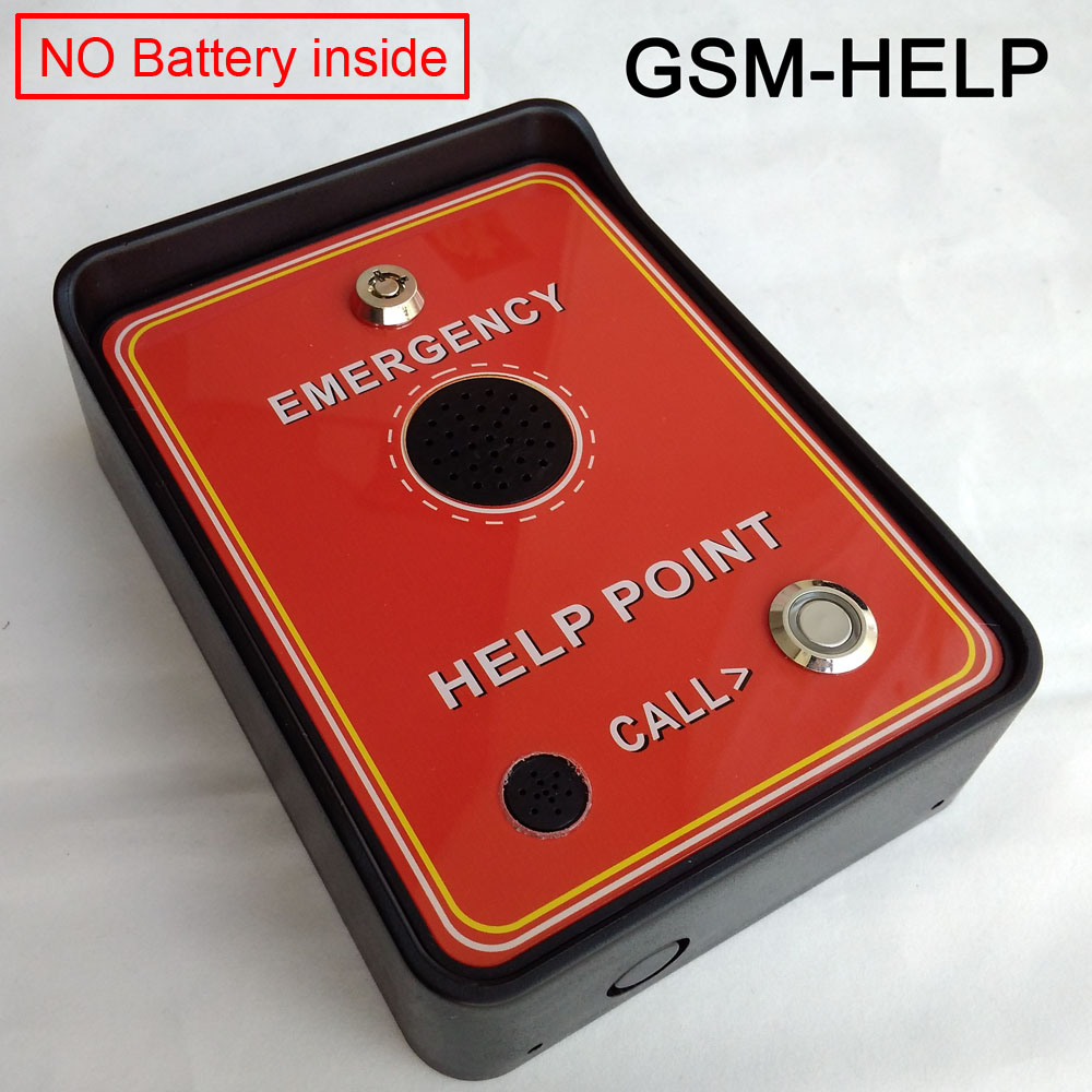 GSM Audio Intercom for service help emergency help taxi help double alarm input and backup battery