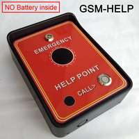 GSM Audio Intercom for service help,emergency help,taxi help,double alarm input and backup battery for power off alarm