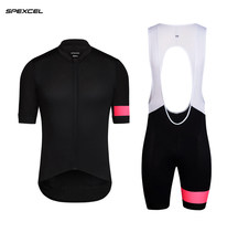 c0f8311309feb8 Spexcel 2017 nieuwe zwarte roze pro teaem korte mouw fietsen JERSEY Cool  fietskleding Ropa Ciclismo racefiets kleding beste kwal.