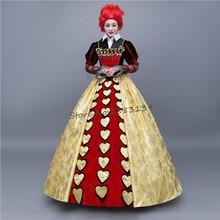 Halloween Party dress Alice in Wonderland Cosplay Costume vampire devil Queen of Hearts color costume dress for woman