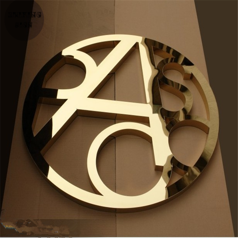 Factory Outlet Outdoor golden stainless steel letter in 3d