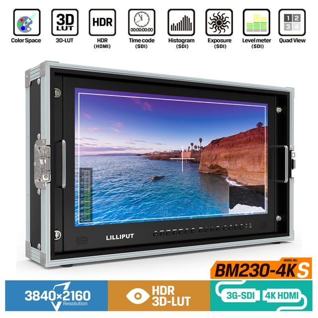 "Lilliput BM230 4KS ใหม่ 23.8 ""HDR 3D LUT สีพื้นที่พกพา 4K Director Monitor 3840x2160 SDI HDMI Tally VGA"