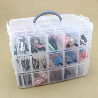 30 Grids Clear Plastic Storage Box For Toys Rings Jewelry Display Organizer Makeup Case Craft Holder
