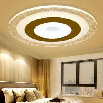 Moderno Ultra Sottile HA CONDOTTO LA Lampada del Soffitto Modello Intelligente Ha Condotto La Luce di Soffitto di Superficie di Illuminazione Montato A Soffitto lampada per Soggiorno camera Da Letto