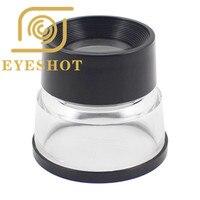 Tragbare 10X Zylinder Acryl Glas Lupe Mit Skala Stehen Vergrößerungswerkzeug Für Schmuck Uhr Münze Stempel