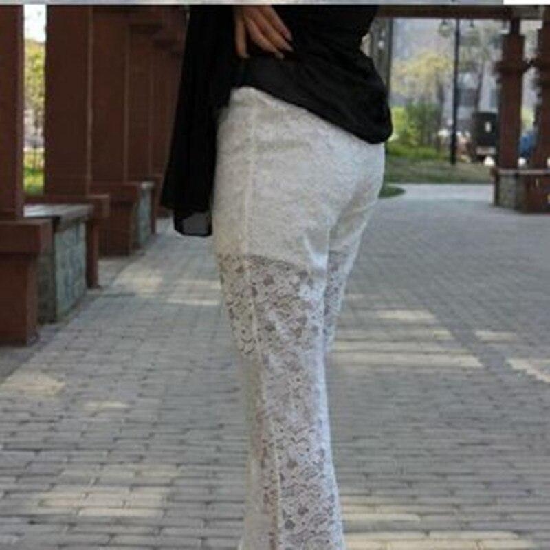Mince Blanc Grande Sexy Large Évasé Bas Nouveauté white Supérieure 6xl Sauvage Dentelle D'été Taille Qualité Pantalon Black De Mode 2019 Noir En zTWOqBw