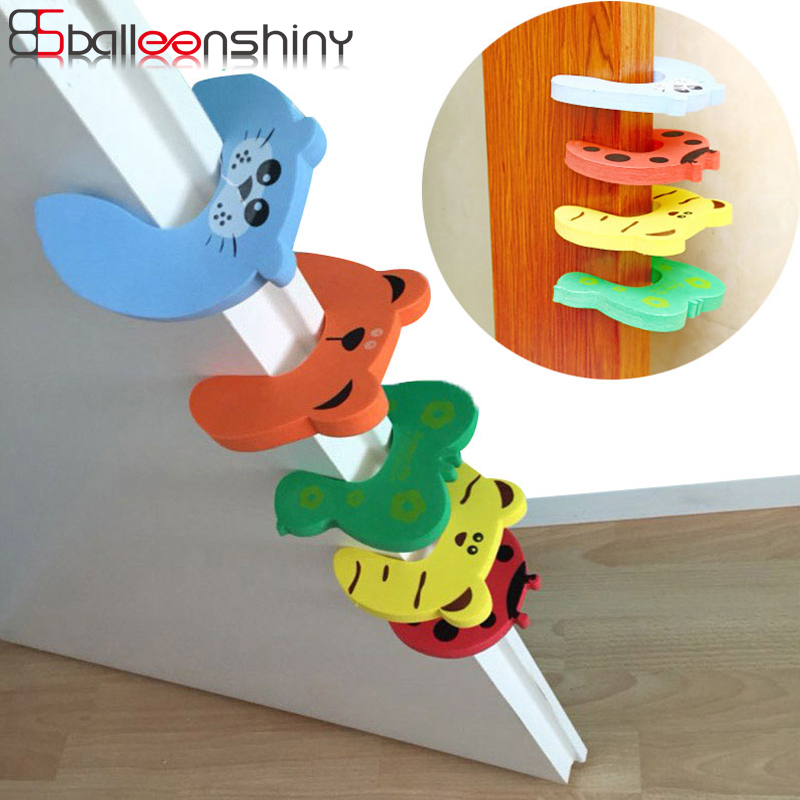 BalleenShiny Security Card Door Stopper Cartoon Animal Baby Safety Protection Newborn Kids Care Lock Protection Corner Protector