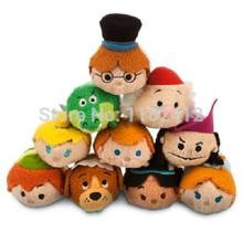 Tsum Tsum Mini Plush Toys Peter Pan Tinkerbell Pirates Captain Hook Tick Tock Crocodile Smem Cute Smartphone Screen Cleaner(China)