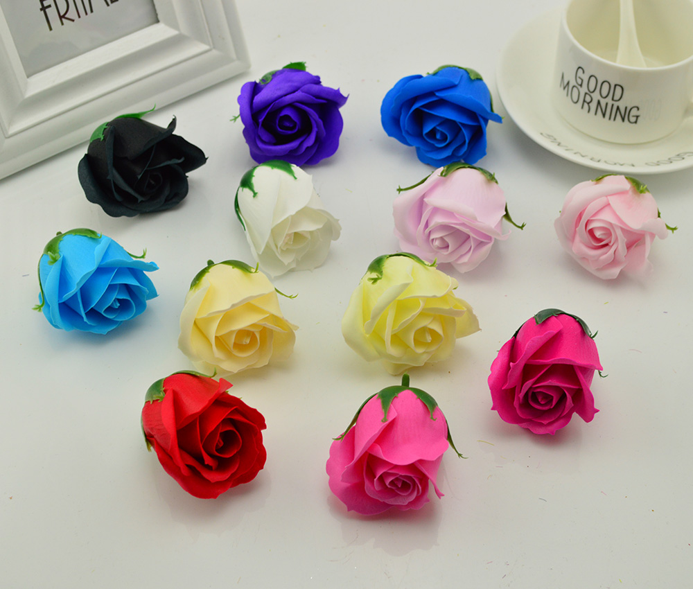 100pcs Artificial soap flowers for home wedding decor accessories fake Bath DIY wreath Valentine s Day