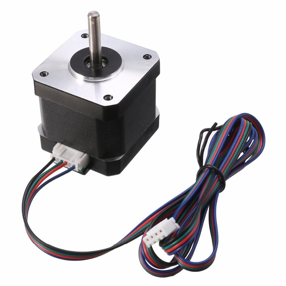 100% Waar 1 St 2 Fase 4-wire Stappenmotor 1.8 Graden Nema17 1.7a Metalen Motoren 40mm Lengte Voor 3d Printer