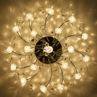Moderne minimalistische circulaire crystal plafond woonkamer verlichting Europese master slaapkamer home LED afstandsbediening warm lichten