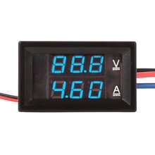 1pcs High Quality DC 100V 10A Voltmeter Ammeter LED Amp Dual Digital Volt Meter Gauge Voltage Current Home Use Tool