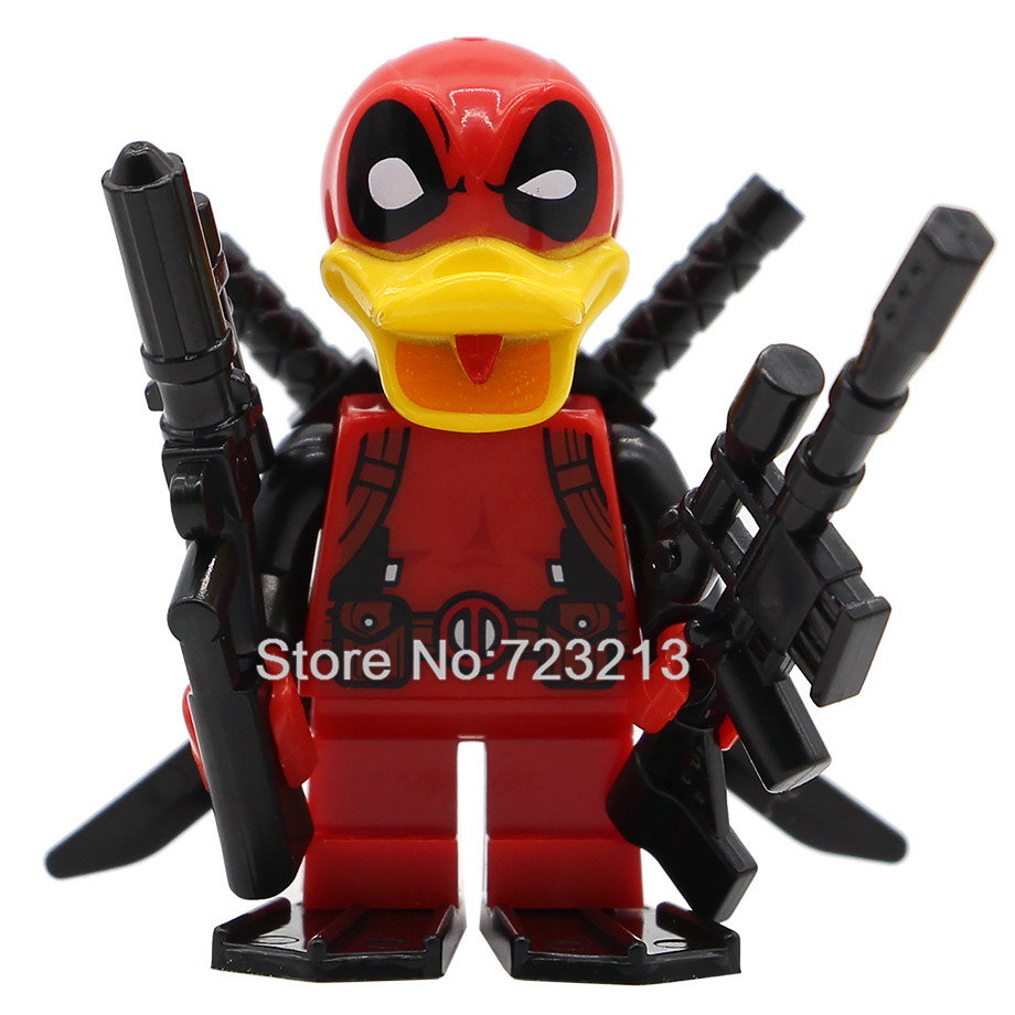 Deadpool Howard the duck Figure Single Sale Marvel Super Hero Building Blocks Set Model Bricks Toys for Children the falcon marvel super hero sam wilson figure the avengers captain america building blocks sets model bricks toys for children