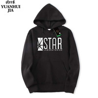 Autumn Brand Hoodies Superman Series Men Hoody STAR S T A R Labs Jumper The Flash