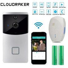 CLOUDRAKER Smart ip видеосвязь Wi-Fi видео телефон двери беспроводная камера Wi-Fi для дверного звонка для квартиры ИК-сигнализация умный беспроводной дверной Звонок