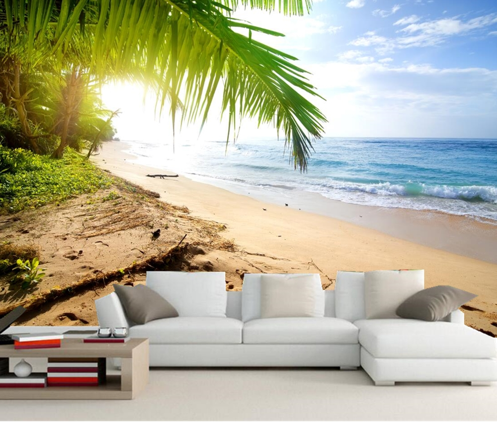 Coast Waves Sea Sand Beach Nature photo wallpaper,living room tv sofa wall bedroom restaurant kitchen mural papel de parede aegean sea scenery sea tree beach 3d wallpaper tv background wallpaper the living room sofa backdrop mural