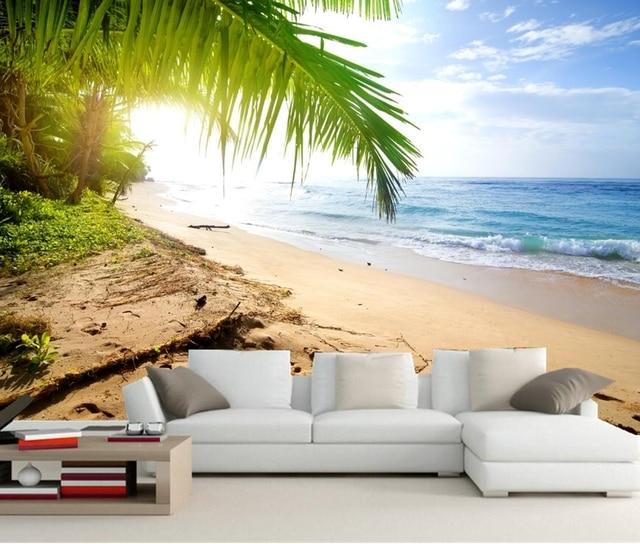 Kuste Wellen Meer Sand Strand Natur Fototapete Wohnzimmer Tv Sofa