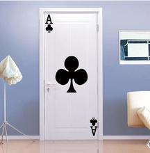 цены DIY Poker Plum A Shape  Door Art Mural Sticker Self-adhesive PVC Wall Sticker Wallpaper Art Poster Bedroom Home Decoration
