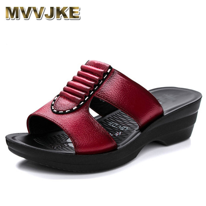 c7e19801d Detail Feedback Questions about MVVJKE Summer new mother slippers fashion  ladies slippers soft and comfortable casual large size shoes Woman Slope  with ...